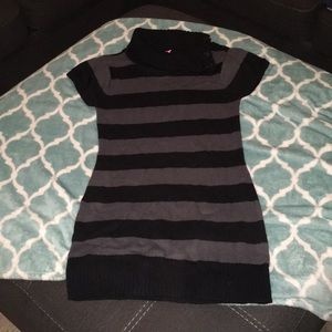 Girls black and grey sweater dress